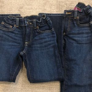 Bundle of 2 flannel lined jeans